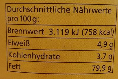 Zwiebel-Schmalz - Nutrition facts - de