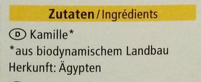 Kamillen Tee - Ingredients