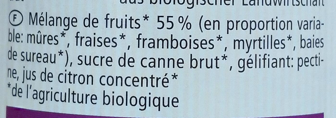 Fruits des bois - Ingredienti - fr