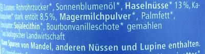 Nuss-Nougat - Inhaltsstoffe