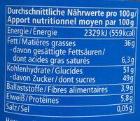 Nuss Nougat - Valori nutrizionali - fr