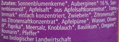Streichcreme Aubergine - Ingredienti - de