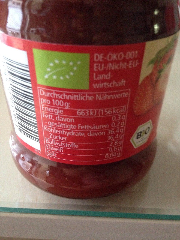 Confiture fraise - Voedigswaarden