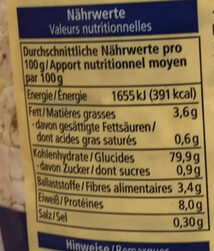 Reis Waffeln glutenfrei - Valori nutrizionali - de