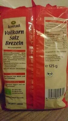 Alnatura Vollkorn Salz Brezeln - Valori nutrizionali