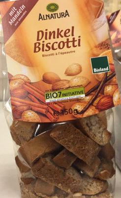 Biscotti à l'épeautre, aux amandes - Product