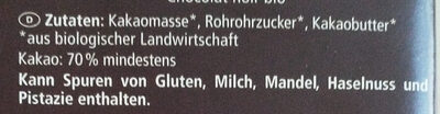 Bio Zartbitterschokolade - Ingredienti - de