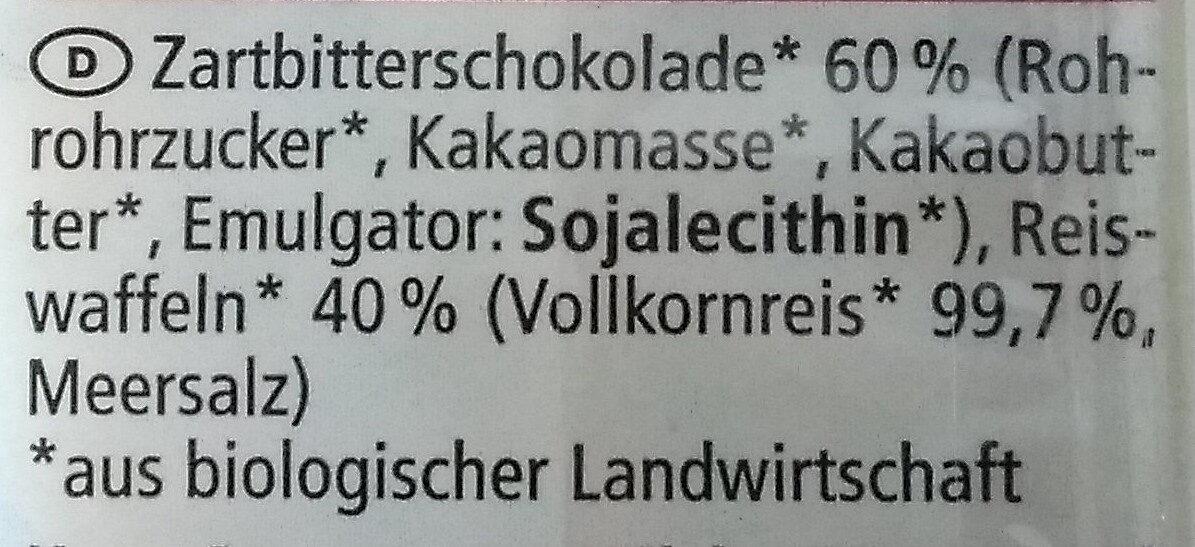 Schoko Reiswaffeln - Ingrediënten - de