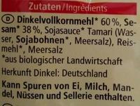 Dinkel Kräcker Sesam - Ingredients