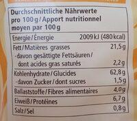 Chips de maïs - Nutrition facts - en