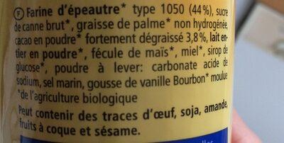 Dinkeldoppelkeks - Ingredients