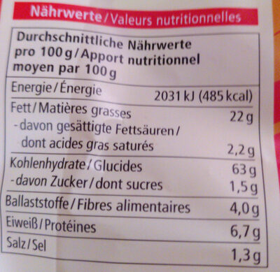 Mais-Chips Paprika - Informations nutritionnelles - de