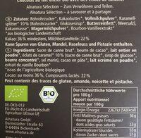 Alnatura Sélection, Caramel - Ingredients