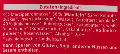 Marzipan Taler - Ingrediënten