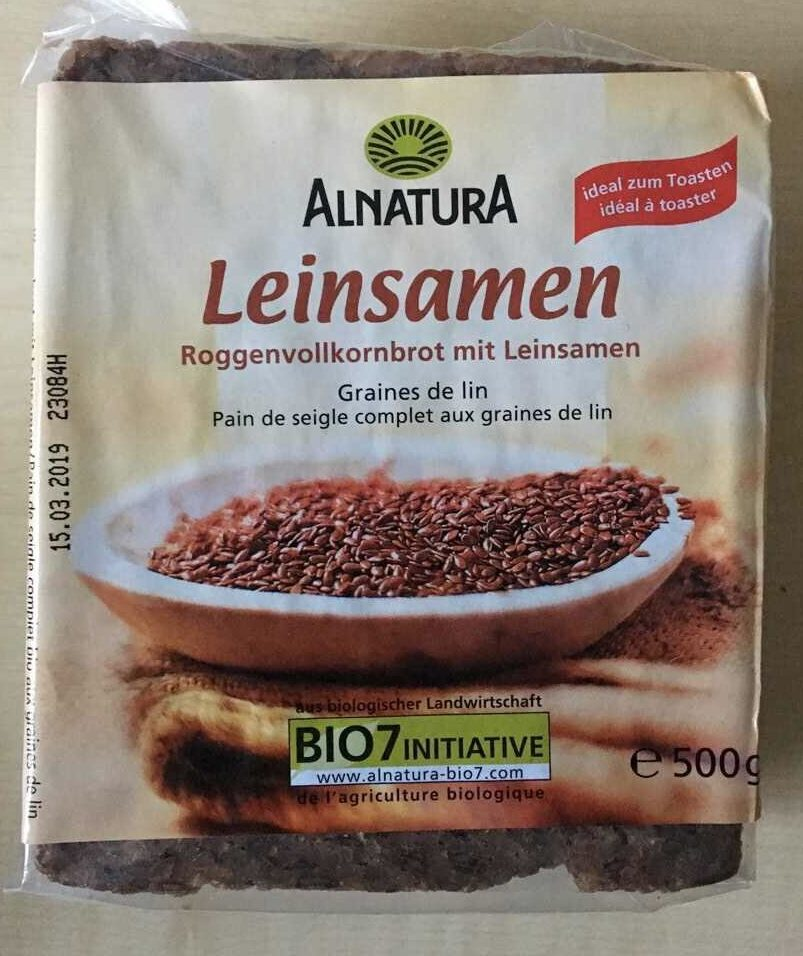 Roggenvollkornbrot mit Leinsamen - Produit - fr