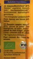 Crackers d'épeautre nature - Ingredients