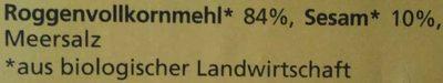 Knäcke-Brot - Ingredients - de
