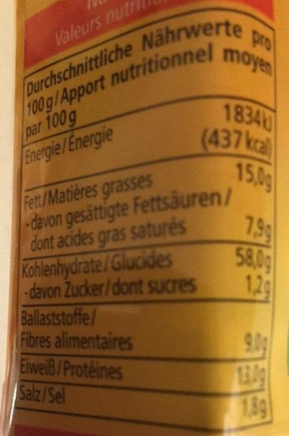 Dinkel Cracker - Nutrition facts - de