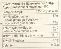 Truffes Chocolat Noir - Informations nutritionnelles - de