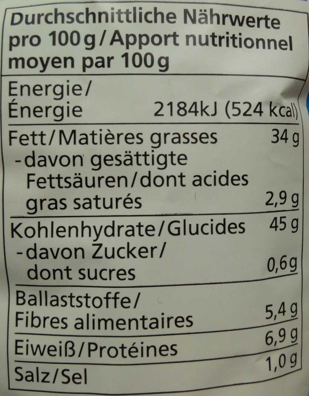 Kartoffel Kcal kartoffel chips meersalz alnatura 125 g