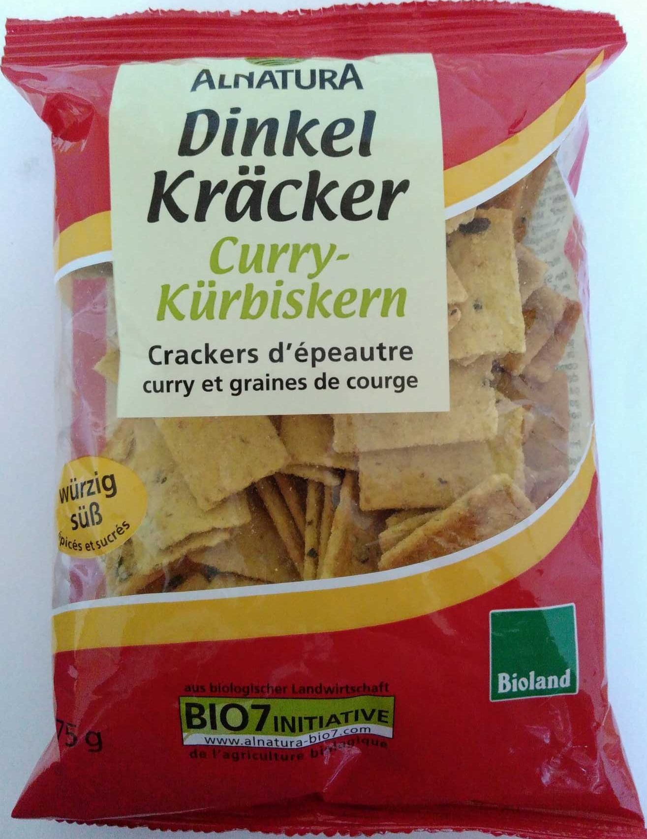 Dinkel Kräcker Curry-Kürbiskern - Prodotto - de