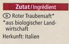 Trauben Saft naturtrüb - Ingredients