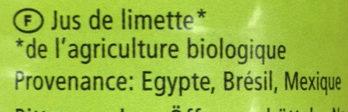 Jus de limette - Ingredients - fr