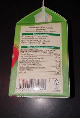 Tomaten Saft - Nutrition facts - fr