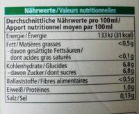 Karottensaft - Nutrition facts - de