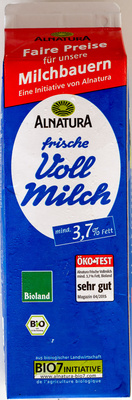 Frische Voll Milch - Produkt