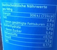 Jogurt mild 3,8 % Fett - Nährwertangaben - de