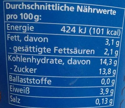 Vanille Joghurt mild - Nutrition facts - de
