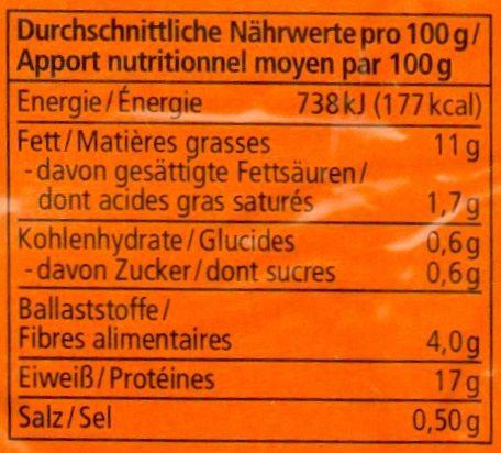 Mandel-Nuss Tofu - Nutrition facts
