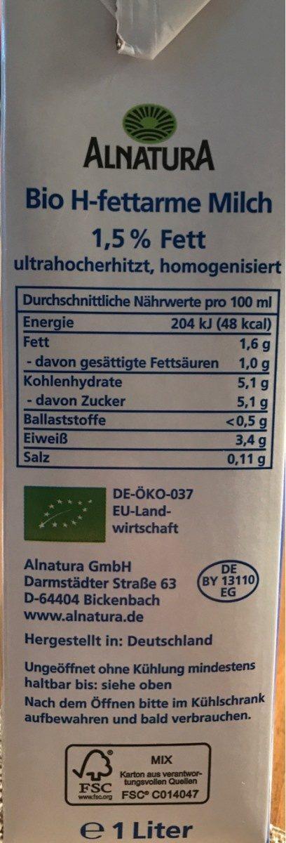 Alpen milch - Ingrediënten