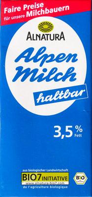Alpen Milch haltbar 3,5% Fett - Produkt - de