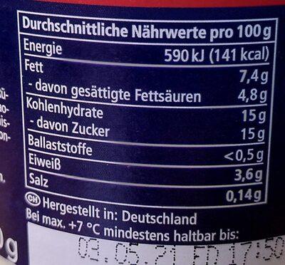 Stracciatella Joghurt - Nährwertangaben - de