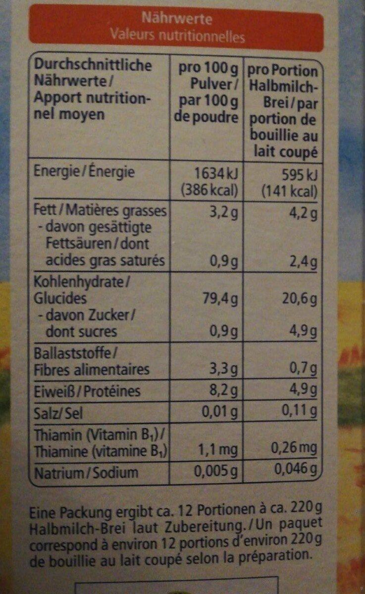 Flocons de riz fondants - Nutrition facts - de