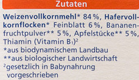 Baby-Müsli - Ingredients