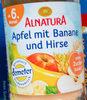 Apfel mit Banane und Hirse - Product