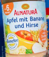 Apfel mit Banane und Hirse - Produkt