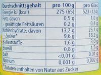 Apfel mit Banane und Hirse - Nährwertangaben