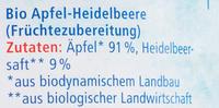 Apfel-Heidelbeere - Ingrédients - de