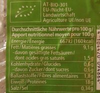 Tofu fumé - Valori nutrizionali - de