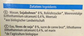 Soja Drink Calcium - Inhaltsstoffe