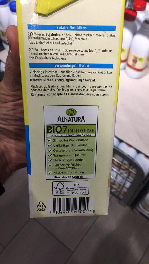 Boisson au soja Calcium - Ingrédients