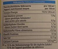 Soja Drink Calcium - Nährwertangaben
