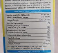 Soja drink calcium - Nährwertangaben - de