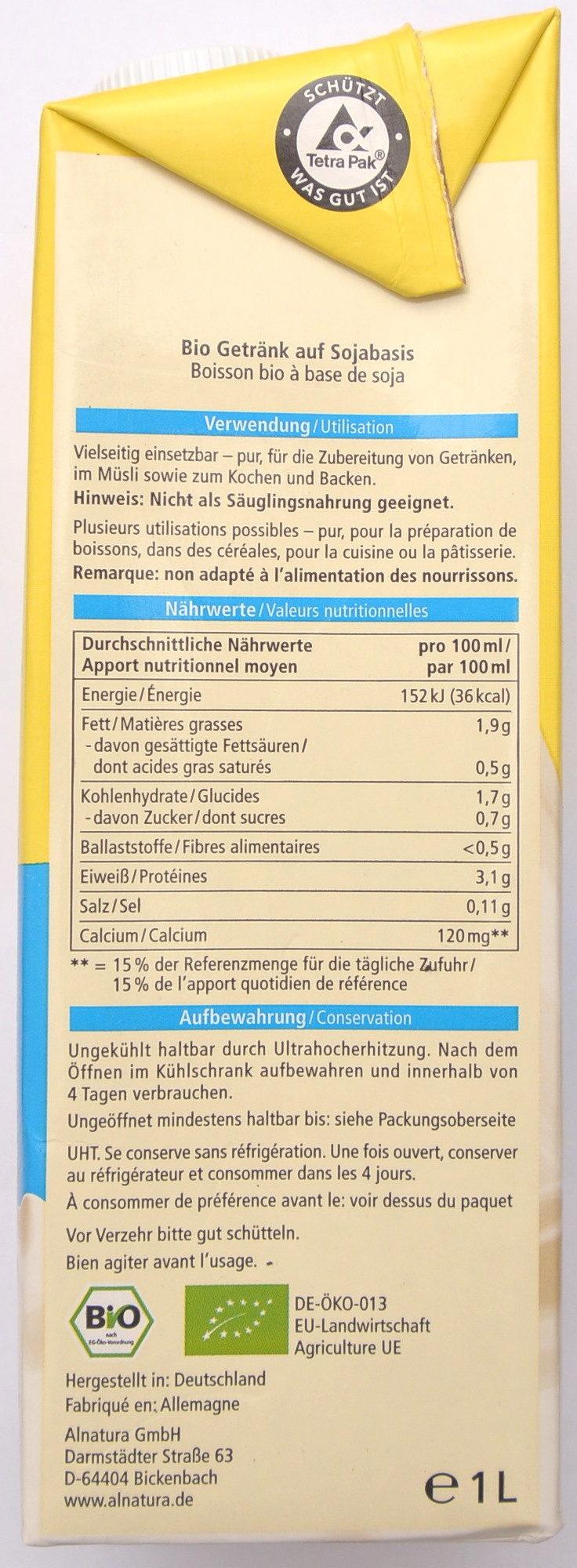 Soja Drink Calcium - Informazioni nutrizionali - fr