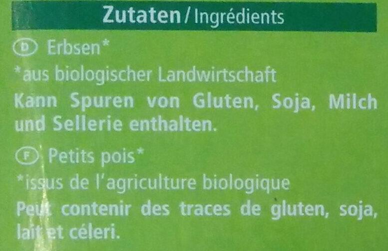 Junge Erbsen - Ingredients
