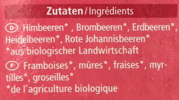 Mélange de baies - Ingredients - fr
